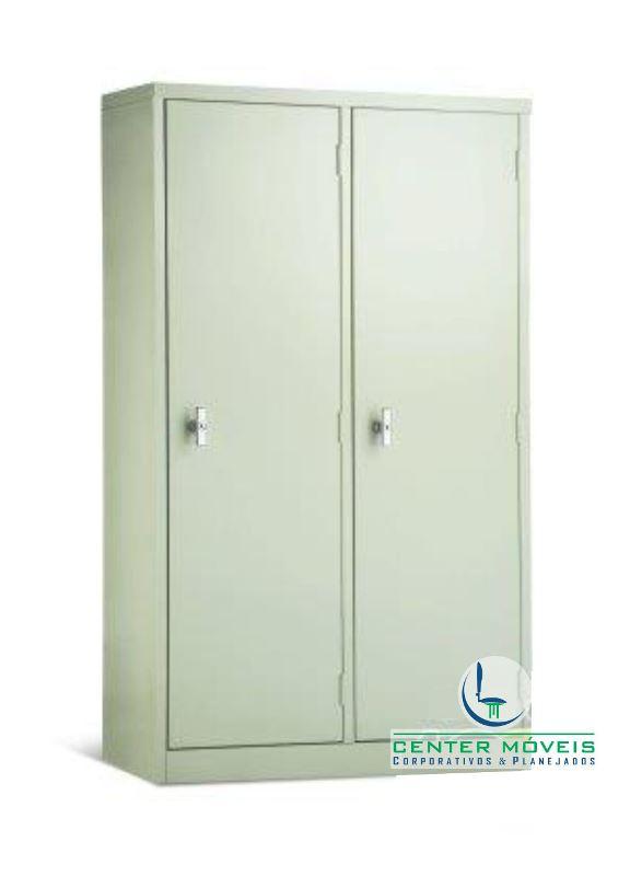 Armário de Aço com 2 ou 3 portas independentes 3 prateleiras reguláveis  Cen -> Armario Para Banheiro Center Castilho